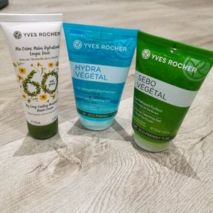 New Yves Rocher cleaning gel and hand cream.